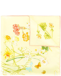 gelber bedruckter Seideschal von Salvatore Ferragamo
