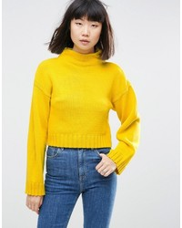 gelber kurzer Pullover von Asos