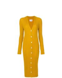 gelber lange Strickjacke von Maison Margiela