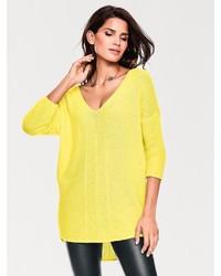 gelber Oversize Pullover von ASHLEY BROOKE by Heine