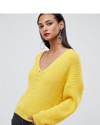 gelber Oversize Pullover von Asos Tall