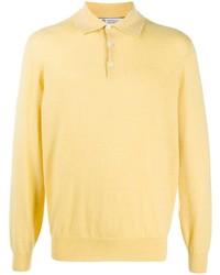 gelber Polo Pullover von Brunello Cucinelli