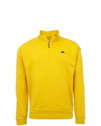 gelber Pullover mit einem Reißverschluss am Kragen von Kappa