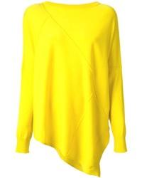 gelber Pullover mit einem Rundhalsausschnitt