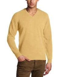 gelber Pullover mit einem Rundhalsausschnitt von Alan Paine