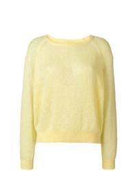 gelber Pullover mit einem Rundhalsausschnitt von Burberry