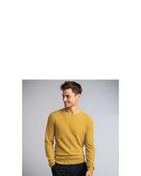 gelber Pullover mit einem Rundhalsausschnitt von NEW IN TOWN