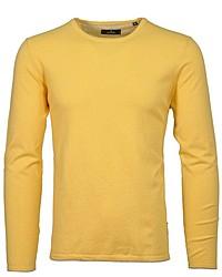 gelber Pullover mit einem Rundhalsausschnitt von RAGMAN
