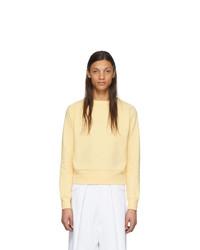 gelber Pullover mit einem Rundhalsausschnitt von Random Identities