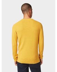 gelber Pullover mit einem Rundhalsausschnitt von Tom Tailor Denim