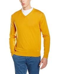 gelber Pullover mit einem V-Ausschnitt von Scalpers