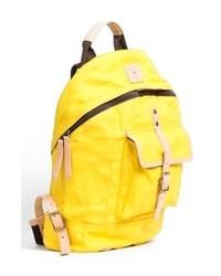 gelber Segeltuch Rucksack