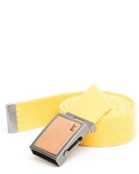 gelber Segeltuchgürtel