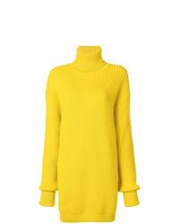 gelber Strick Oversize Pullover von Maison Margiela