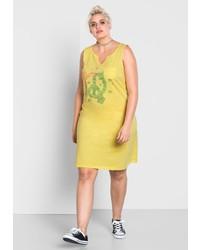 gelbes bedrucktes Freizeitkleid von SHEEGO CASUAL