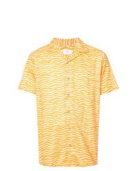 gelbes bedrucktes Kurzarmhemd von Onia
