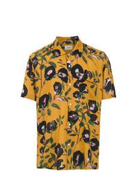 gelbes bedrucktes Kurzarmhemd von OSKLEN