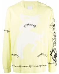gelbes bedrucktes Langarmshirt von Givenchy