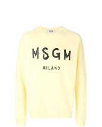gelbes bedrucktes Sweatshirt