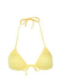 gelbes Bikinioberteil von Cecilia Prado