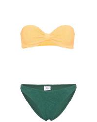 gelbes Bikinioberteil von Hunza G