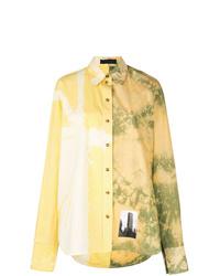 gelbes Mit Batikmuster Businesshemd von Proenza Schouler