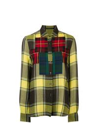 gelbes Businesshemd mit Schottenmuster von Ermanno Scervino