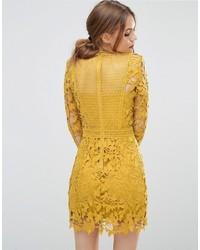 cd69d65f2e6a gelbes gerade geschnittenes Kleid aus Spitze von Asos   Wo zu kaufen ...