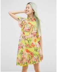 f1ae9e2a8ed0 Modische gelbes gerade geschnittenes Kleid für Damen von Asos für ...