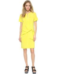 gelbes gerade geschnittenes Kleid von DKNY