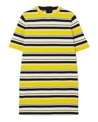 gelbes horizontal gestreiftes gerade geschnittenes Kleid von Marc Jacobs