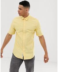 gelbes Kurzarmhemd von ONLY & SONS