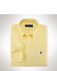 gelbes Langarmhemd mit Vichy-Muster