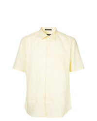 gelbes Leinen Kurzarmhemd von D'urban