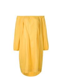 gelbes schulterfreies Kleid von Fendi Vintage