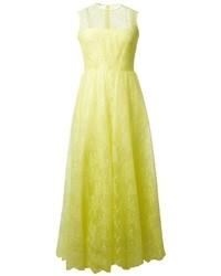 gelbes Spitze Ballkleid von Valentino