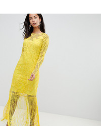 gelbes Spitze Maxikleid von Asos Tall