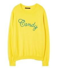 gelbes Sweatshirt von Mango