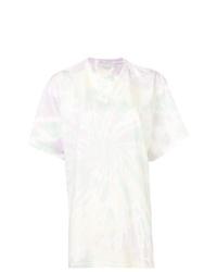 gelbes Mit Batikmuster T-Shirt mit einem Rundhalsausschnitt von Stella McCartney