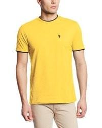 gelbes T-Shirt mit einem Rundhalsausschnitt