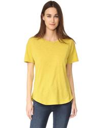 gelbes T-Shirt mit einem Rundhalsausschnitt von Madewell