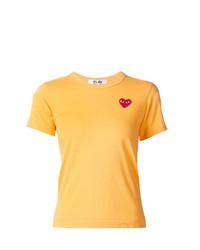 gelbes T-Shirt mit einem Rundhalsausschnitt von Comme Des Garcons Play