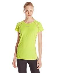 gelbes T-Shirt mit einem Rundhalsausschnitt von Desigual