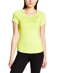 gelbes T-Shirt mit einem Rundhalsausschnitt von Nike