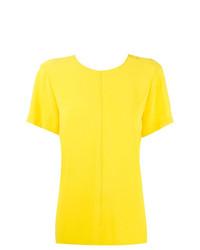 gelbes T-Shirt mit einem Rundhalsausschnitt von Proenza Schouler