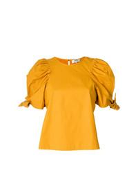 gelbes T-Shirt mit einem Rundhalsausschnitt von Sea