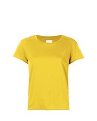 gelbes T-Shirt mit einem Rundhalsausschnitt von Simon Miller
