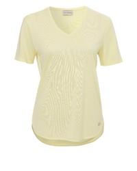 gelbes T-Shirt mit einem V-Ausschnitt von VIA APPIA