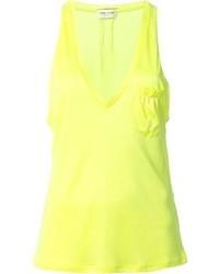 gelbes Trägershirt von Saint Laurent