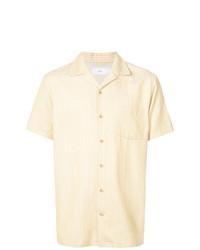 gelbes vertikal gestreiftes Kurzarmhemd von Onia
